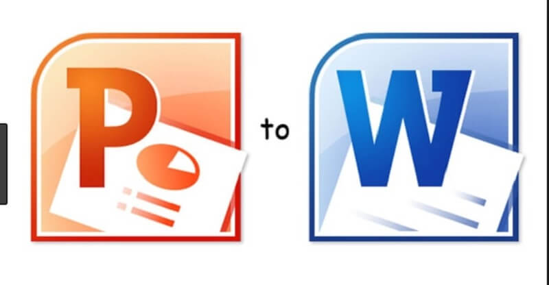 chuyển file PowerPoint sang Word