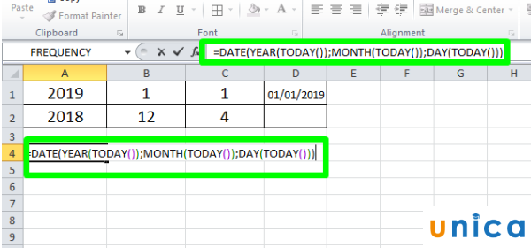 Hàm Day trong Excel 2