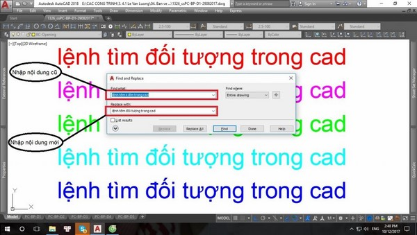 lệnh Find trong Cad