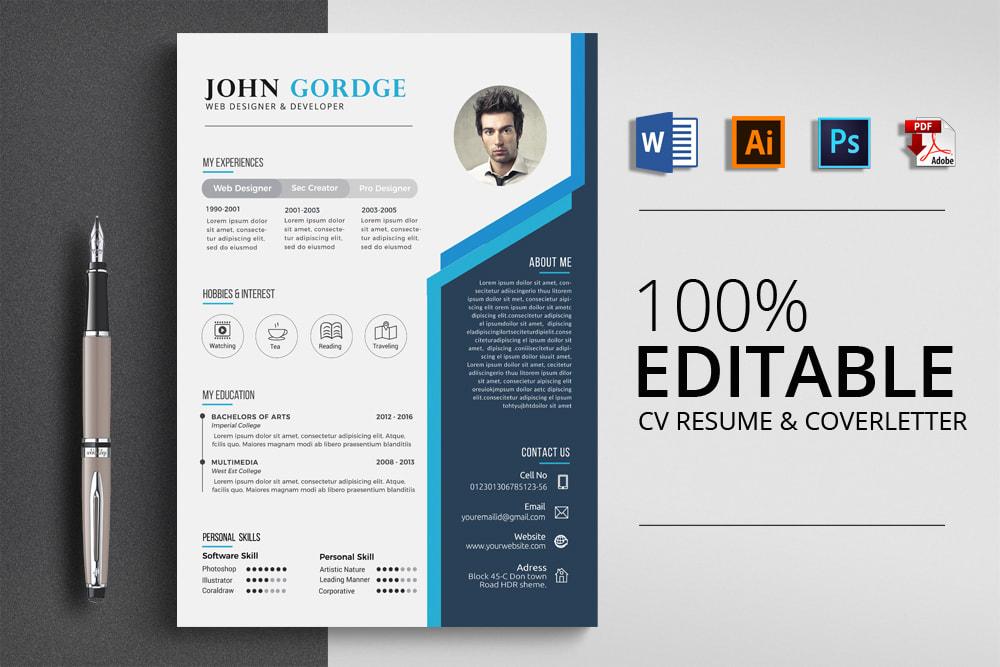 cách thiết kế CV xin việc bằng photoshop