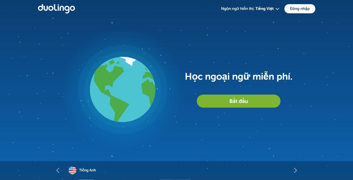 Trang web học tiếng anh dành cho người bắt đầu