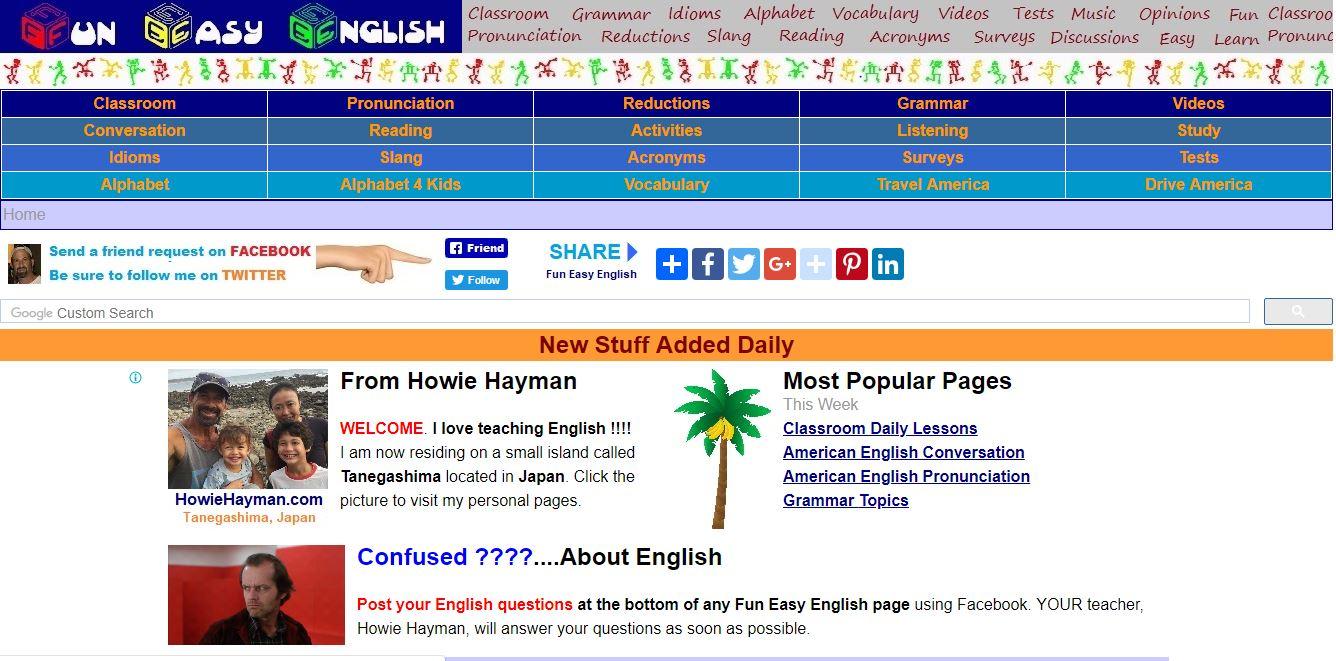 Trang web học tiếng anh dành cho người mới bắt đầu