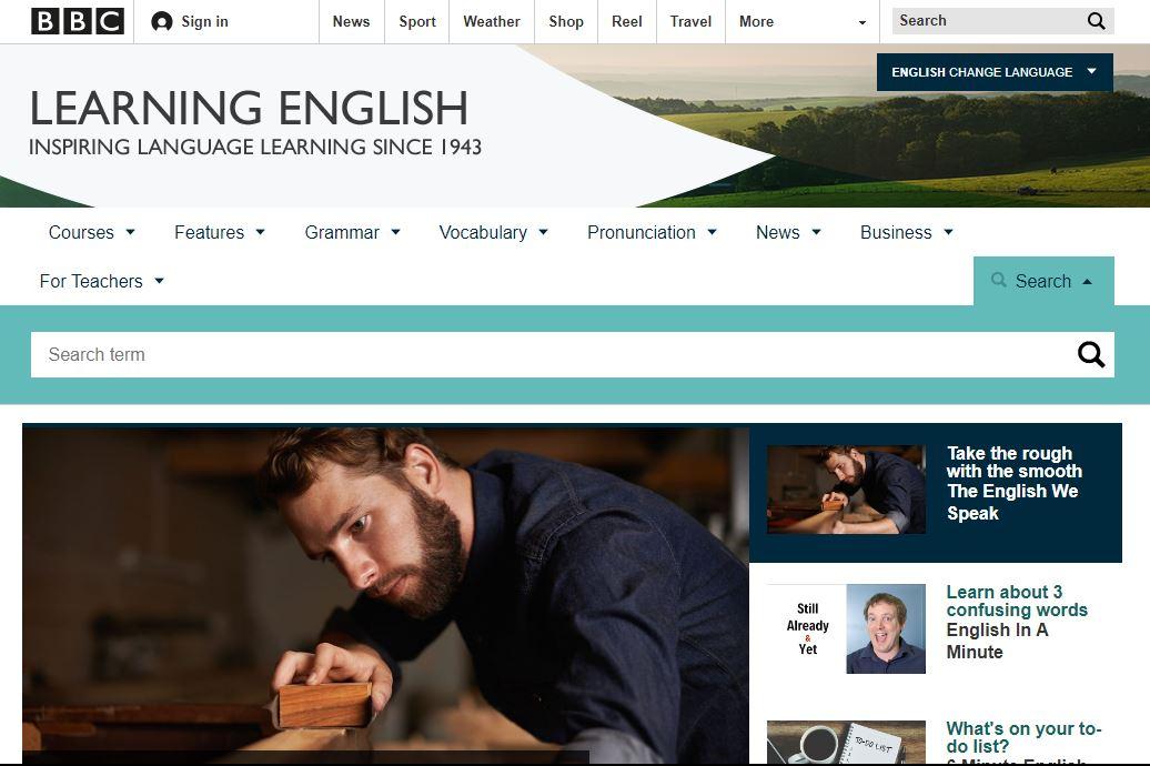 Trang web học tiếng anh cho người mới bắt đầu