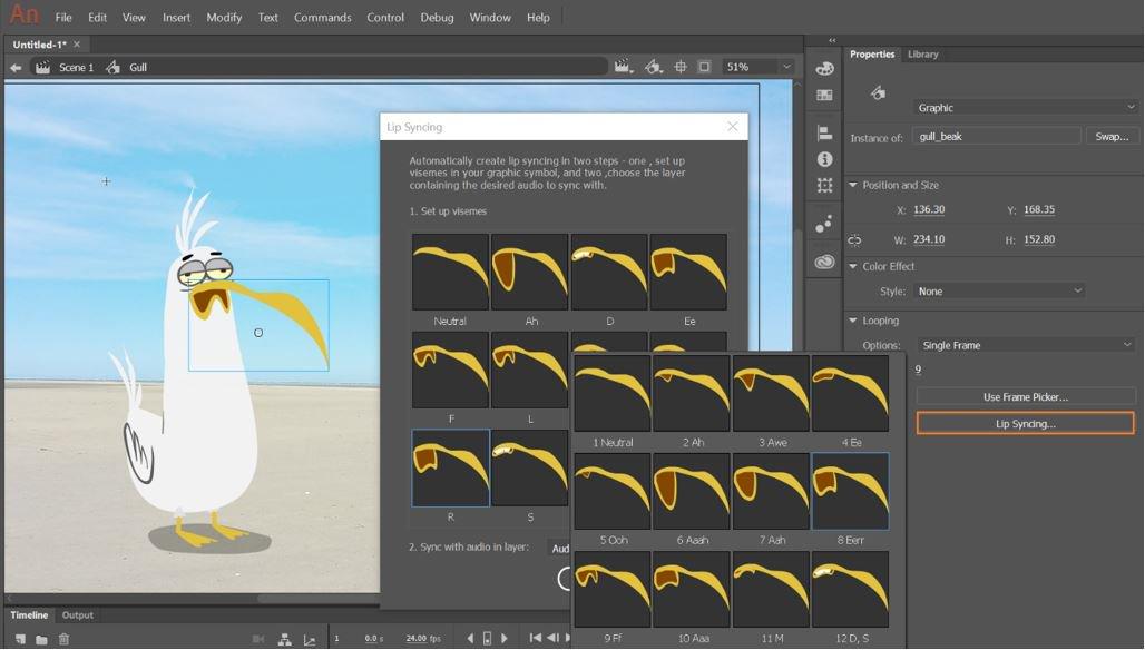 hiệu ứng Adobe Animate