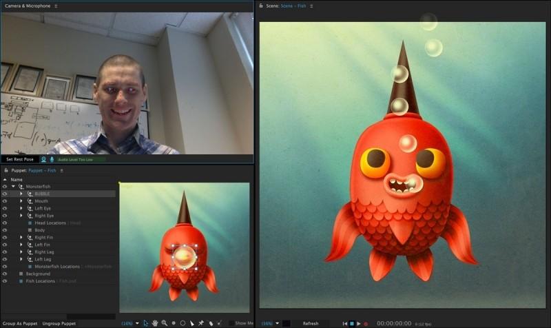 Adobe Character Animator tạo ảnh nhân vật