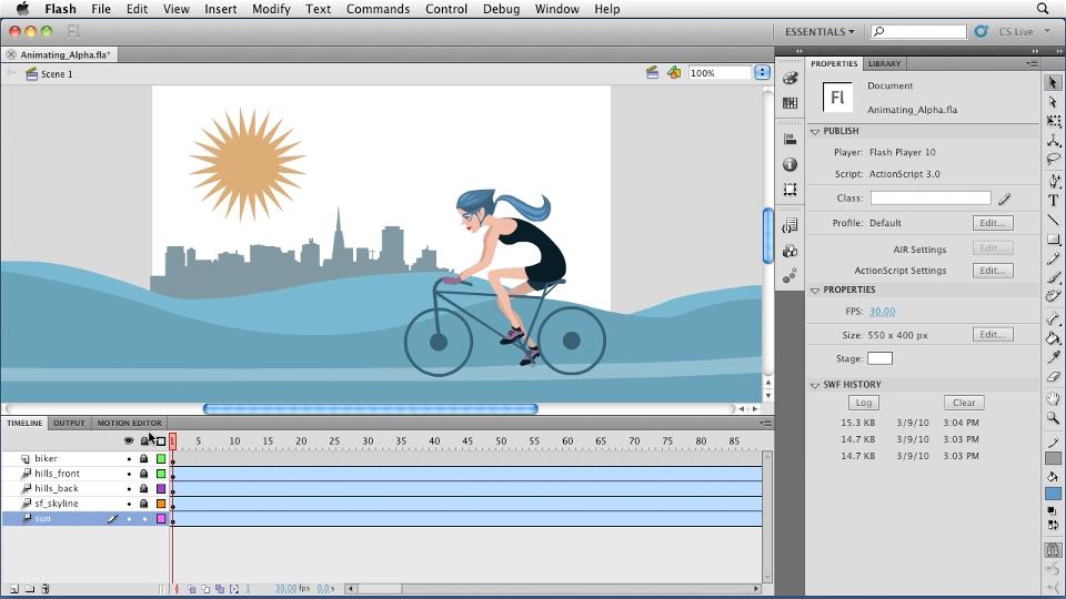 Phần mềm Adobe Flash Professional