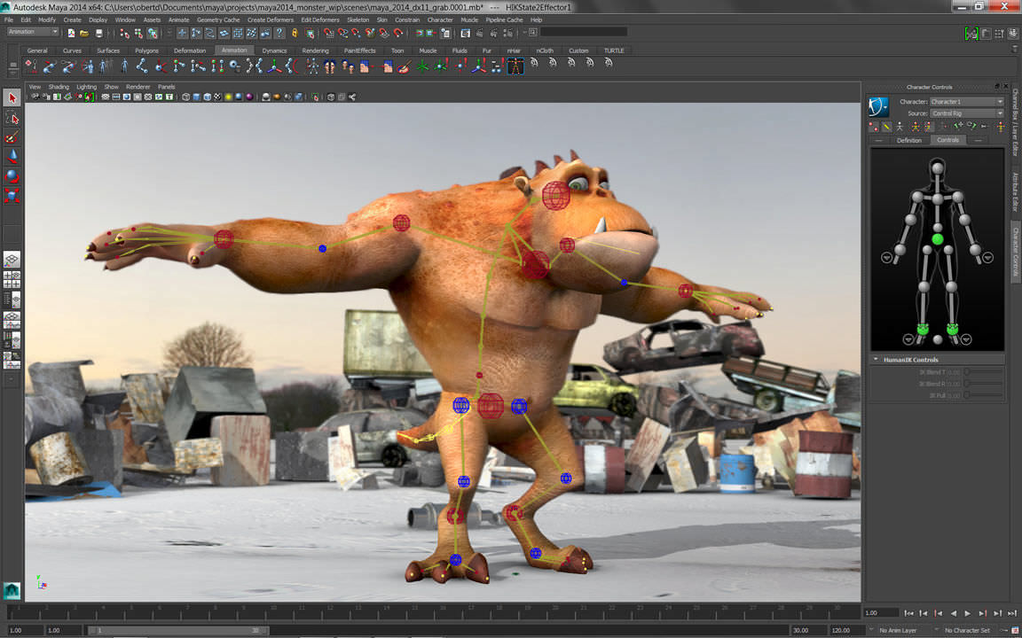 Phần mềm Maya làm game chuyên nghiệp
