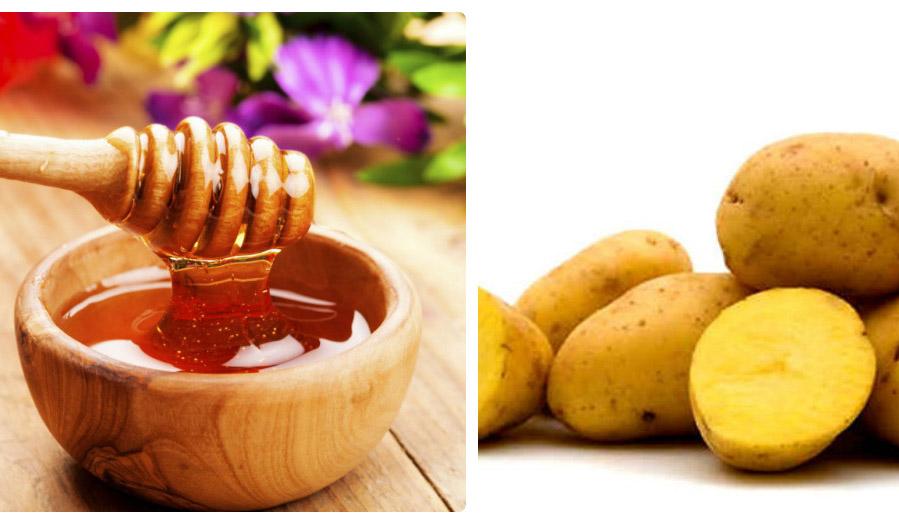 cách làm mặt nạ khoai tây mật ong