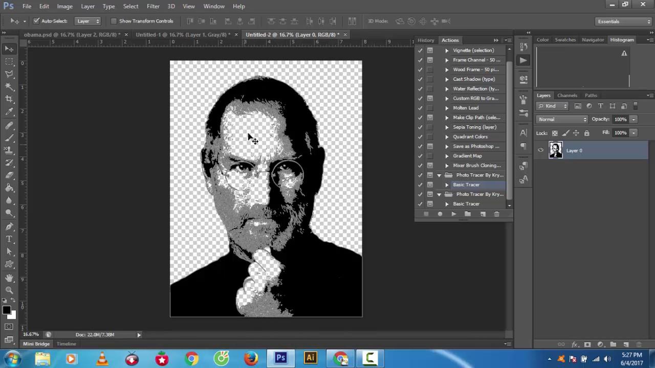 chuyển ảnh sang vector trong Photoshop