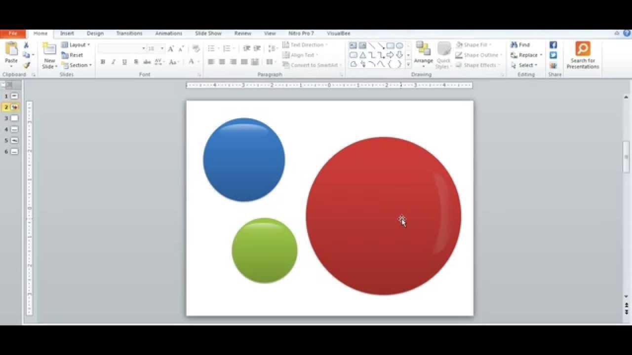 hiệu ứng pháo hoa trong PowerPoint  bóng nổ