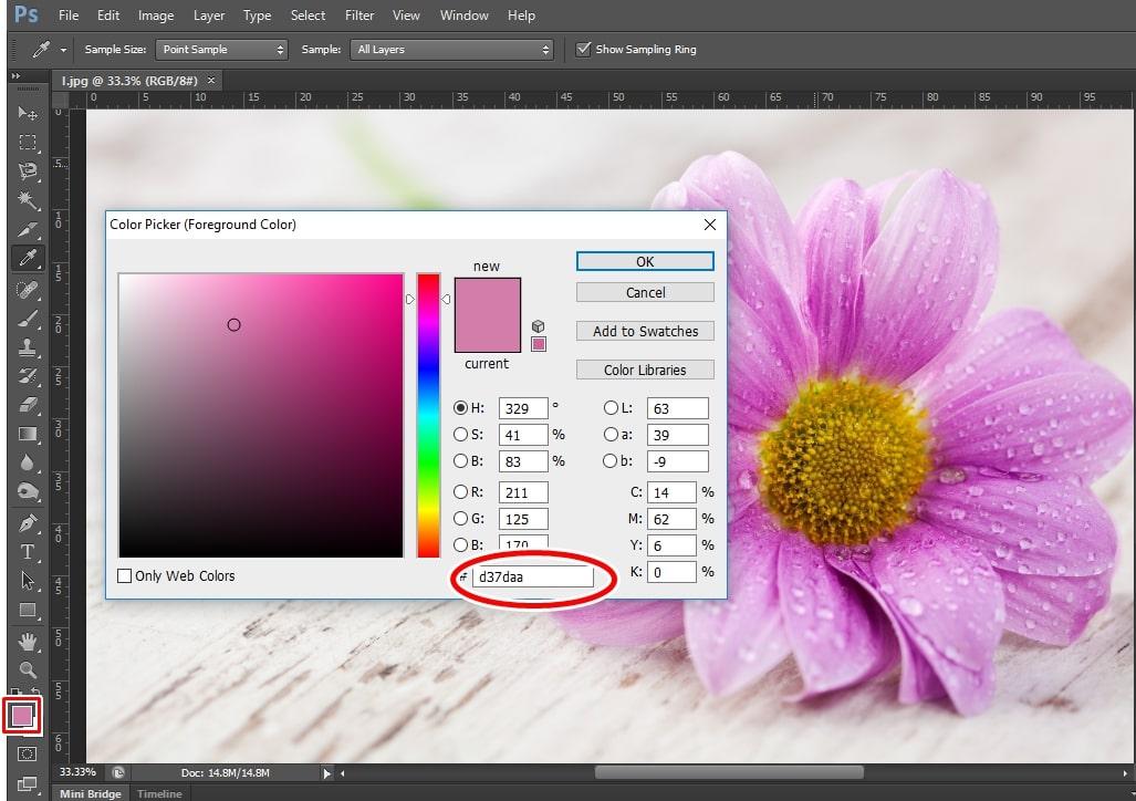 """""""Bỏ túi"""" lưu ý khi lấy màu trong Photoshop"""