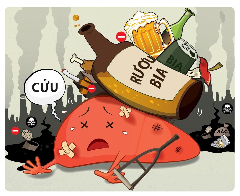 tác hại nguy hiểm của việc uống rượu bia ngày Tết