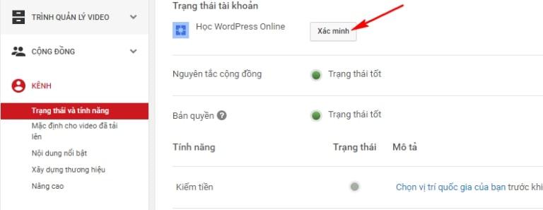 Xác minh kênh YouTube nhanh nhất
