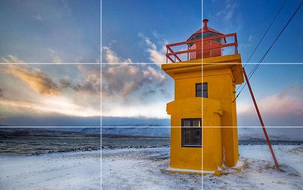 Nguyên tắc ⅓ được nhiều người lựa chọn khi chụp ảnh chân trời