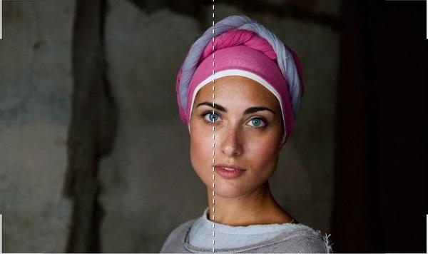 Lấy đôi mắt làm tâm điểm giúp người nhìn dễ bị cuốn hút từ cái nhìn đầu tiên với bức ảnh