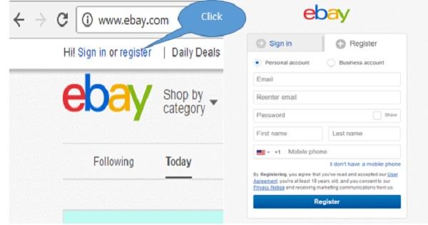 Thiết lập tài khoản trên eBay là bước đầu tiên bạn cần thực hiện