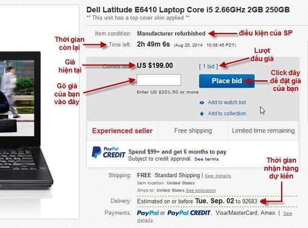 Mua hàng trên eBay góp phần hoàn thiện hồ sơ cho bạn trên thị trường này