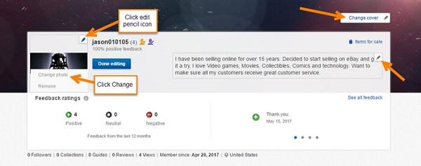 Thiết lập hoàn chỉnh trang hồ sơ cá nhân và bắt đầu lên kế hoạch bán hàng trên eBay