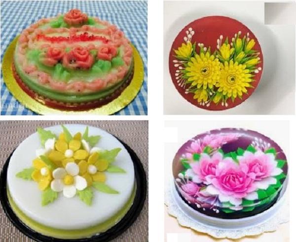 Có thể tạo rất nhiều loại bánh màu sắc và kích thước khác nhau dựa vào nguyên liệu, khuôn mẫu và sự khéo léo từ bàn tay bạn