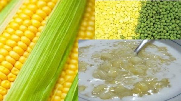 Nguyên liệu làm chè bắp đậu xanh được chế biến từ các thành phần dưỡng chất từ thiên nhiên