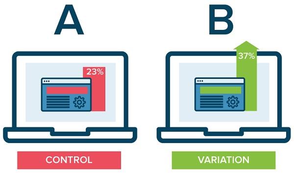 Tiến hành test A/B đối với nhóm quảng cáo vừa thiết lập