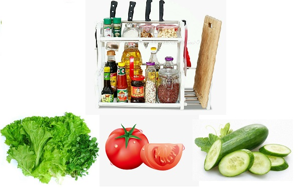 Các nguyên liệu cần thiết làm món salad rau