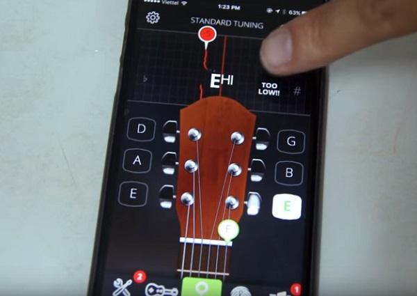 Hướng dẫn cách chỉnh dây đàn Guitar với phần mềm Guitar tuner