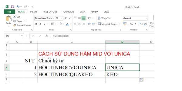 Sử dụng hàm MID trong Excel như thế nào cho đúng?