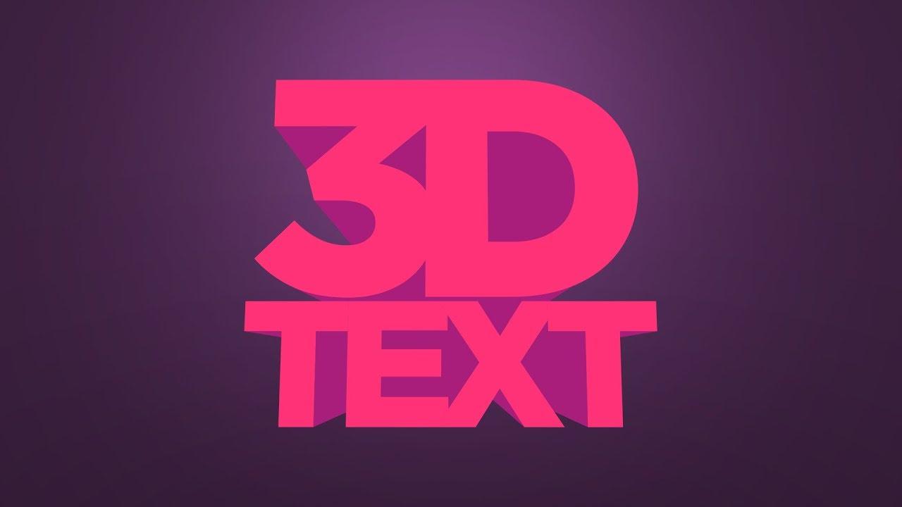 3D text Illustrator