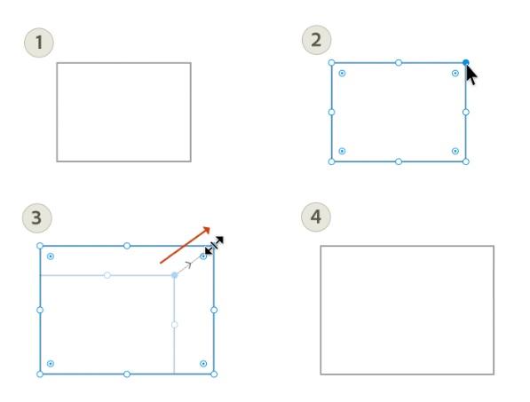 thay đổi kích thước đối tượng trong Illustrator