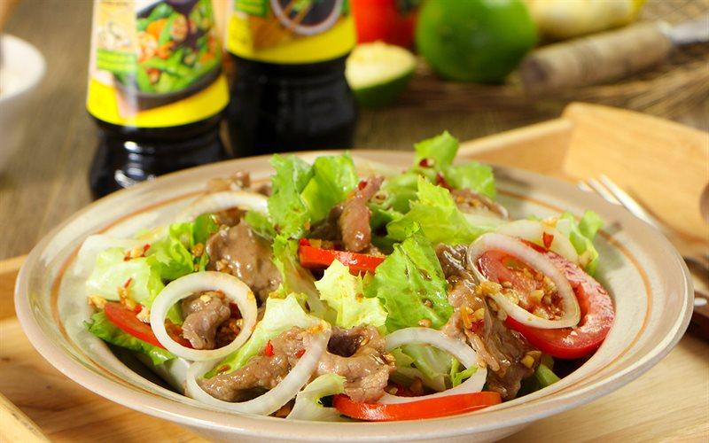 Cách làm salad trộn thịt bò