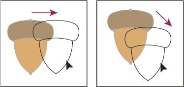 Di chuyển đối tượng trong Illustrator