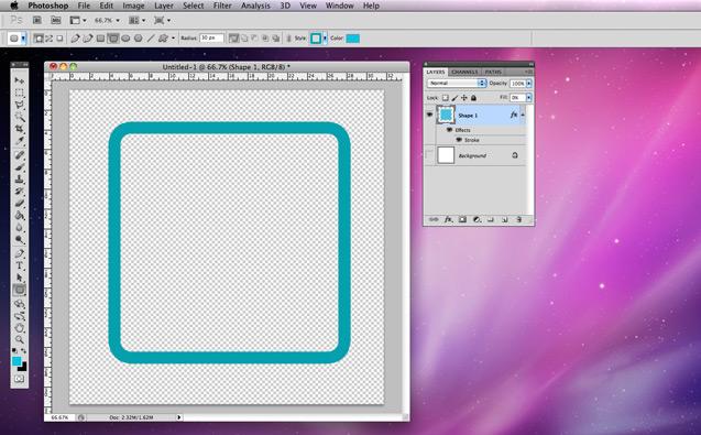 vẽ hình chữ nhật trong Photoshop