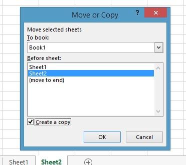 Mô tả cách copy 1 sheet trong Excel. Hình 2