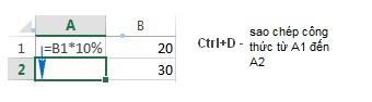 Mô tả cách sao chép công thức trong excel. Hình 5