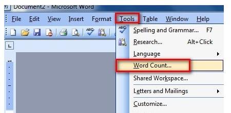 Cách đếm ký tự trong Word