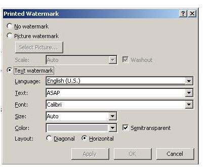 Cách đóng dấu bản quyền trong word bằng Watermark. Hình 2