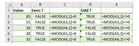 Mô tả cách sử dụng của hàm mod trong excel. Hình 3