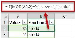 Mô tả cách sử dụng của hàm mod trong excel. Hình 4