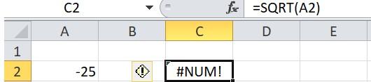 Mô tả cách sử dụng hàm sqrt trong Excel. Hình 2