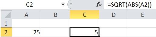 Mô tả cách sử dụng hàm sqrt trong Excel. Hình 3