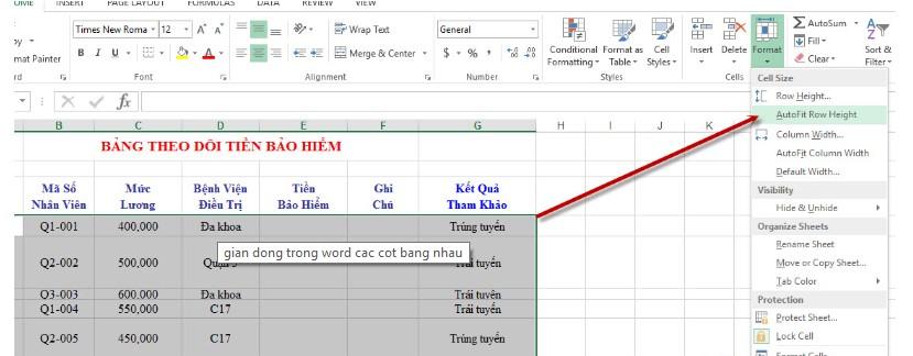 Cách giãn dòng trong Excel. Hình 2