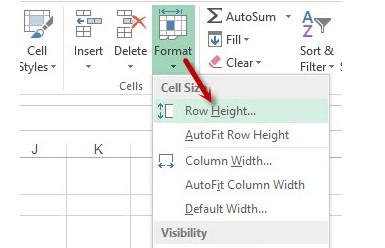Cách giãn dòng trong Excel. Hình 3