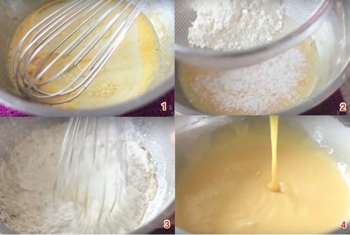 Cách làm bánh bông lan kem cuộn hoa quả