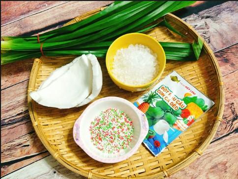 Cách làm chè dừa non lá dứa
