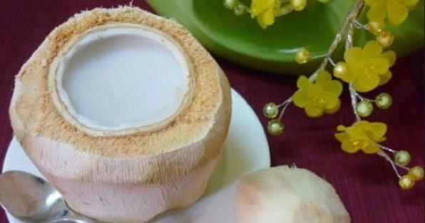 Cách làm rau câu trái dừa