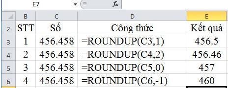 Mô tả cách làm tròn số trong Excel. Hình 1