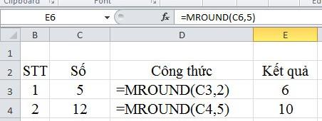 Mô tả cách làm tròn số trong Excel. Hình 3