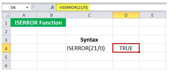 Mô tả cách dùng hàm iserror trong Excel. Hình 2