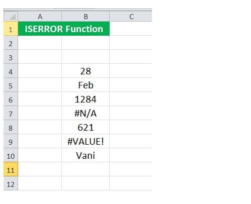 Mô tả cách dùng hàm iserror trong Excel. Hình 5